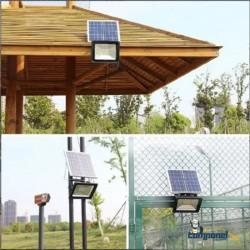 Refletor Solar Led Holofote Recarregável 100w + controle remoto
